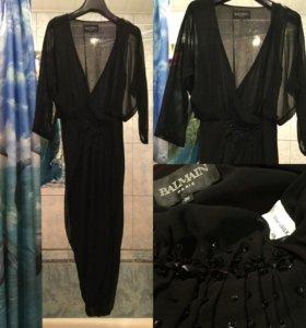 Платье Balmain коктейльное 100% шелк оригинал s