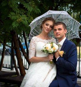 Ажурный свадебный зонтик
