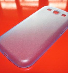 Синий пластиковый чехол на Samsung Galaxy S3