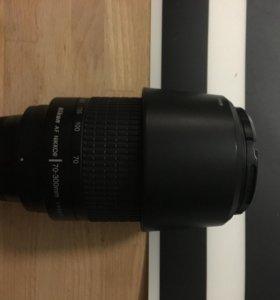 Объектив Nikkor/Nikon; 70-300mm