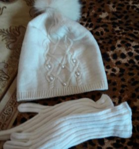 Набор:шапка с перчатками