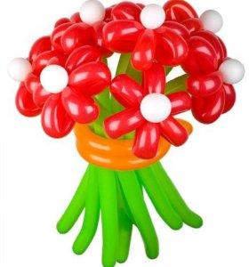 Букет из воздушных шаров ромашки