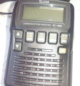 Связной приёмник Icom ic-r6+адаптер для связи с ПК
