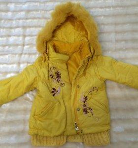 Зимняя куртка с отстегивающейся подкладкой на пуху