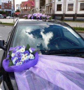 Прокат украшений на свадебную машину