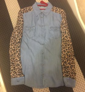Женская джинсовая рубашка (новая с бирками)