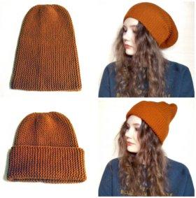 Вязанная шапка бини
