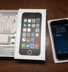 Iphone 5s 16gb space gray в идеальном состоянии
