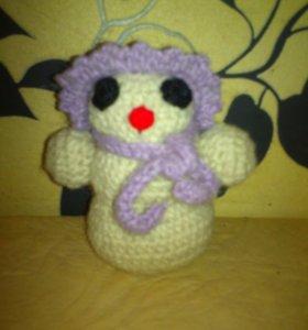 Снеговик вязаная игрушка