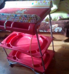 Продам пеленальный столик-ванночка