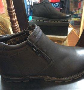 Ботинки зимние,новые мужские,есть размеры