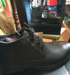 Ботинки зимние мужские с большой скидкой,новые.