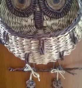 Ключница сова, ручная работа