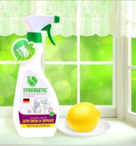 Средство для мытья окон, зеркал synergetic