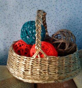 Карзинка с шарикми