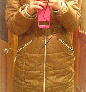 Куртка (на сентепоне) на зиму+2 шарфа