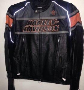 Куртка кожаная , мужская, Harley Davidson, харлей