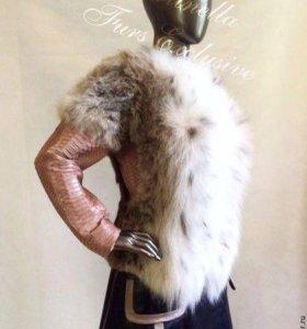 Куртка- жилет из рыси