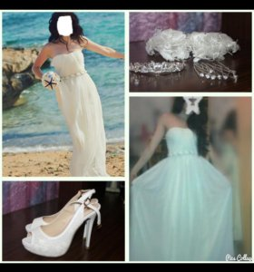 Свадебное-выпускное платье