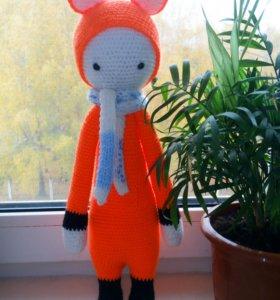 Вязаная игрушка лисичка Фиби из серии Lalylala