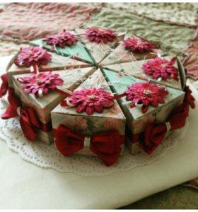 Оригинальный подарок -торт с пожеланиями