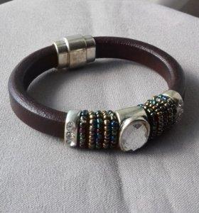 Новый кожаный браслет Regaliz Crystal Brook