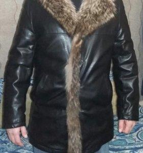 Новая куртка муж. кож.с натуральным мехом внутри