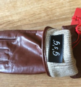 Перчатки женские коричневые  новые