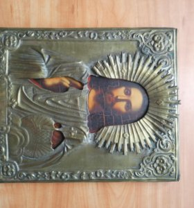 Икона 19 век Господь Вседержитель антиквариат