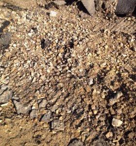 Б/у щебень, деломит, песок,  грунт,  чернозем