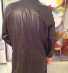 Сюртук кожаный пиджак
