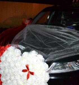 Свадебные украшения на главную машину