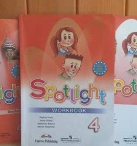 Spotlight 4 класс: учебник, тетрадь, книга учителя