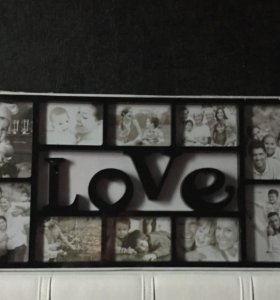 Фоторамка на 10 фото Love