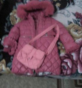 Детское пальто 3-5 лет