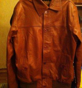 Куртка кожаная новая мужская