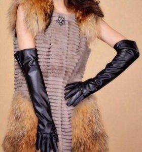 Новые перчатки кожзам 49 см