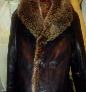 Куртка кожанная мужская зимняя на меху