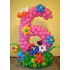 Цифры из шариков на день рождения и юбилеи
