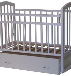 Кроватка-маятник Алита 4 белая