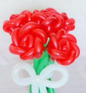 Букет роз.фигуры из воздушных шаров