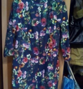 Пиджак, удлиненный, с рисунком 3д, карманы.