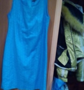 Платье летнее, от остин, бирюзовое ,с подкладкой.