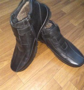Туфли зимние кожа мех