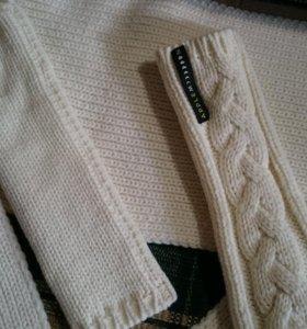 Новый шарф и митенки