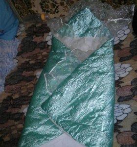 Теплое одеяло-конверт на выписку