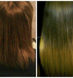 Наращивание волос,ботокс для волос, кератиновое вы