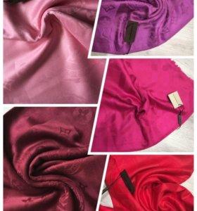 Брендовые палантины (розовые оттенки)