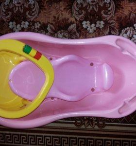 Горка д/купания+ванночка+сиденье