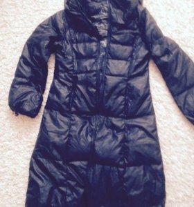 Длинное пальто ( пуховик)